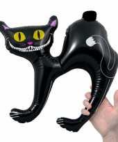 Opblaas zwarte katten 41 cm trend