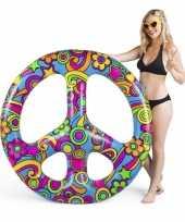 Opblaasbaar hippie peace teken 120 cm trend