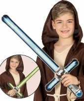 Opblaasbaar laser zwaard groen 69 cm trend