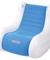 Opblaasbare blauwe stoel met speaker trend