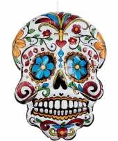 Opblaasbare day of the dead schedel 100 cm hangdecoratie trend