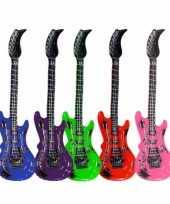 Opblaasbare gitaar groen 55 cm trend