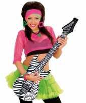 Opblaasbare gitaar zebra 105 cm trend
