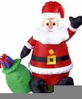 Opblaasbare kerstman 122 cm trend