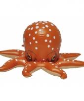 Opblaasbare oranje speelgoed octopus 46 cm trend