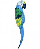 Opblaasbare papegaai blauw 110 cm trend