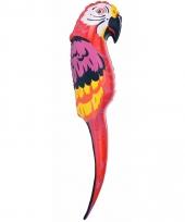 Opblaasbare papegaai rood 110 cm trend