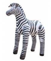 Opblaasbare speelgoed zebra 142 cm trend