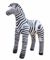 Opblaasbare speelgoed zebra 81 cm trend