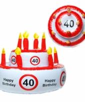 Opblaasbare verjaardagstaart 40 jaar trend