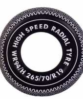 Opblaasbare zwarte band 90 cm trend