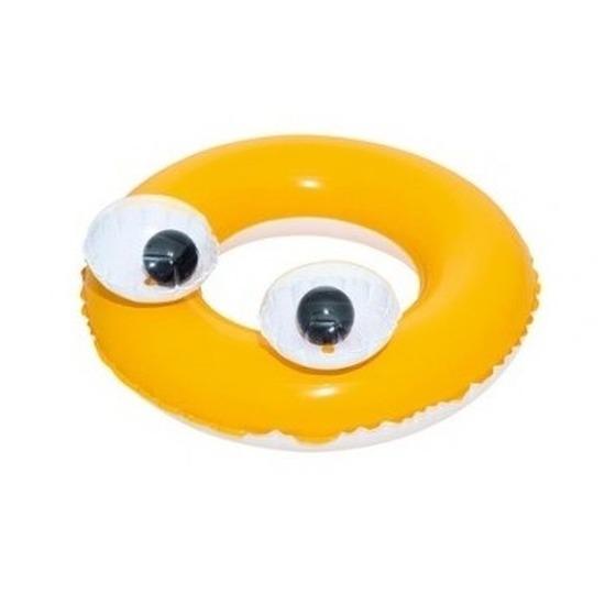 Opblaasbare zwemband geel 61 cm voor kinderen trend