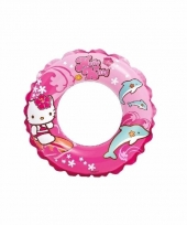 Opblaasbare zwemband hello kitty roze 51 cm trend