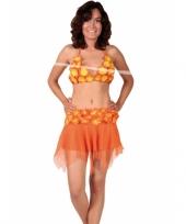 Oranje bikini en rokje trend