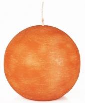 Oranje bolkaars 8 cm trend