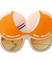 Oranje borsten bril onze jongens trend