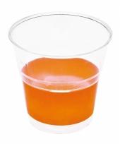 Oranje camping bekers 10 stuks trend