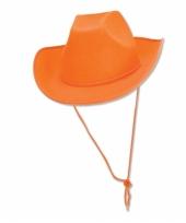 Oranje cowboy hoed trend
