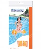 Oranje dolfijn zwembandjes voor kinderen 25 cm trend