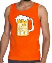 Oranje het is oranje en wil bier tanktop mouwloos shirt heren trend