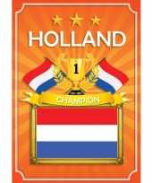 Oranje holland deurposter trend