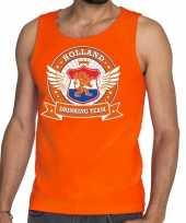 Oranje holland drinking team tankop mouwloos shirt heren trend