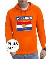 Oranje holland vlag grote maten sweater trui heren trend