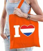 Oranje i love holland tasje voor dames trend