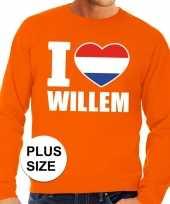 Oranje i love willem grote maten sweater trui heren trend