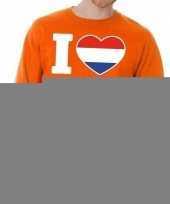Oranje i love willem sweater volwassenen trend