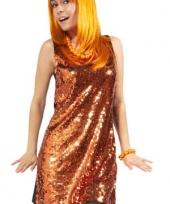 Oranje jurk met pailletten trend