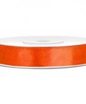 Oranje kadolinten satijn 12 mm trend