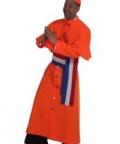 Oranje kardinaal kostuum heren trend