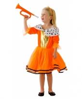 Oranje kleding koninginnenjurk voor kids trend