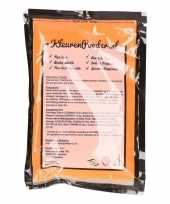 Oranje kleurenpoeders 100 gram trend
