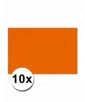 Oranje knutselpapier a4 formaat 10 stuks trend