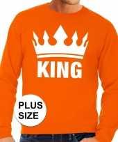 Oranje koningsdag king kroon grote maten sweater trui heren trend