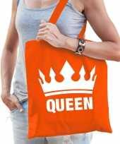 Oranje koningsdag queen kroon tasje voor dames trend