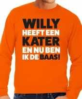 Oranje koningsdag willy heeft een kater sweater heren trend