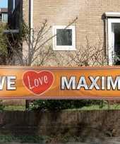 Oranje maxima supporters banner trend