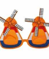 Oranje molen bril met wieken trend
