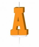 Oranje naam kaarsje letter a trend