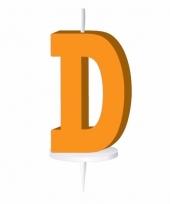 Oranje naam kaarsje letter d trend