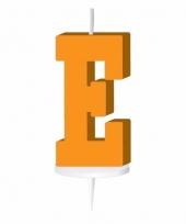 Oranje naam kaarsje letter e trend