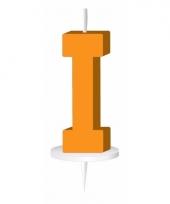 Oranje naam kaarsje letter i trend