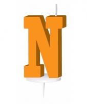 Oranje naam kaarsje letter n trend