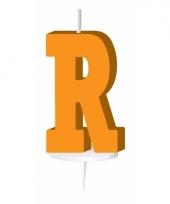 Oranje naam kaarsje letter r trend