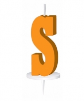 Oranje naam kaarsje letter s trend