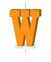 Oranje naam kaarsje letter w trend