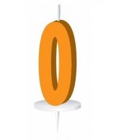 Oranje nummer kaarsje cijfer 0 trend